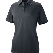 UltraClub® Ladies' Cool & Dry Elite Mini-Check Jacquard Polo