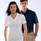 UltraClub® Men's Platinum Performance Jacquard Polo with TempControl Technology