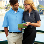 UltraClub® Men's Platinum Performance Birdseye Polo with TempControl Technology