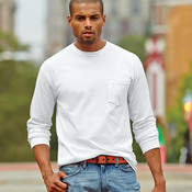 Adult Garment-Dyed Heavyweight Long-Sleeve Pocket Tee