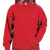 Adult Digital Color Block Hooded Fleece