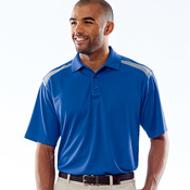 UltraClub® Adult Cool & Dry 2-Tone Mesh Piqué Polo