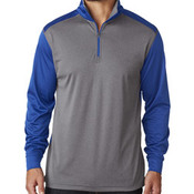 UltraClub® Adult Cool & Dry Sport 2-Tone 1/4-Zip Pullover