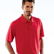 UltraClub® Men's Cool & Dry Box Jacquard Performance Polo