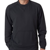 UltraClub® Adult Cool & Dry Sport Crew Neck Fleece