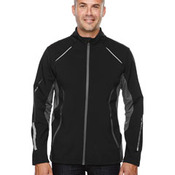 Men's Pursuit Three-Layer Light Bonded Hybrid Soft Shell Jacket with Laser Perforation