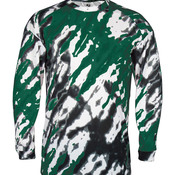 Adult Tie Dri Sublimated Long Sleeve Tee
