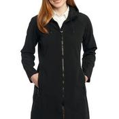 Ladies Long Textured Hooded Soft Shell Jacket