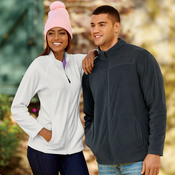 UltraClub® Ladies' Cool & Dry Full-Zip Micro-Fleece