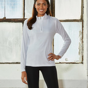 UltraClub® Ladies' Cool & Dry Sport Performance Interlock 1/4-Zip Pullover