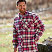 Men's Flannel Shirt Jacket with Quilt Lining