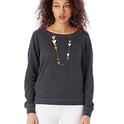 Ladies' Wash Slub Slouchy Pullover