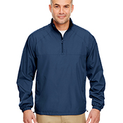 Adult Micro-Poly Quarter-Zip Wind Shirt