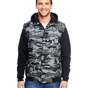 Adult Fleece Sleeeved Puffer Vest