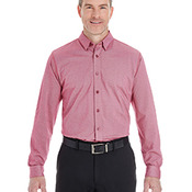 Men's Central Cotton Blend Mélange Button-Down