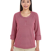 Ladies' Central Cotton Blend Mélange Knit Top