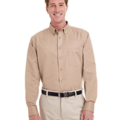 Men's Foundation 100% Cotton Long-Sleeve Twill Shirt with Teflon™