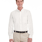 Men's Tall Foundation 100% Cotton Long-Sleeve Twill Shirt with Teflon™