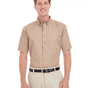 Men's Foundation 100% Cotton Short-Sleeve Twill Shirt with Teflon™