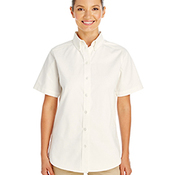 Ladies' Foundation 100% Cotton Short-Sleeve Twill Shirt with Teflon™