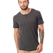 Unisex Home Team Garment Dyed Slub Henley Shirt