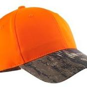 Enhanced Visibility Cap with Camo Brim