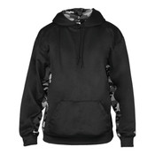 Adult Camo Color Block Hooded Fleece