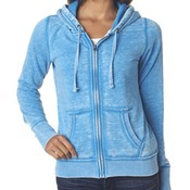 J.America Ladies' Zen Full-Zip Hooded Fleece