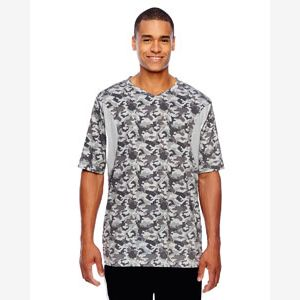 Men's Short-Sleeve Athletic V-Neck Tournament Sublimated Camo Jersey Thumbnail