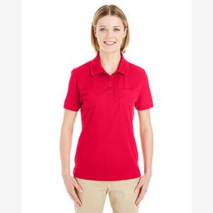 Ladies' Origin Performance Piqué Polo with Pocket Thumbnail