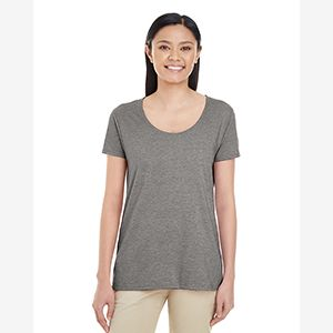 Ladies' Softstyle®  4.5 oz. Deep Scoop T-Shirt Thumbnail