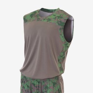 Adult Printed Camo Performance Muscle Shirt Thumbnail