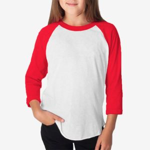 Youth Poly-Cotton 3/4-Sleeve T-Shirt Thumbnail